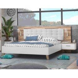 Кровать 140*190 на ножках с подсветкой Ricciano
